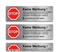 24x Aufkleber Schild Sticker bitte keine Werbung e Zeitungen, Zeitung