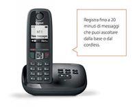 GIGASET AS405A - telephones (DECT, Wall, Black, AAA, Pulse, Digital)