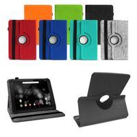 TrekStor Primetab P10 Tasche Hülle Tablet Cover Filz Case Schutzhülle Drehbar, Farben:Schwarz