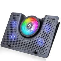KLIM Nova + Laptop-RGB-Kühler- 11 bis 19 Zoll + Laptop-Gaming-Kühlung + USB-Lüfter + Stabil und leise + Mac- und PS4-kompatibel