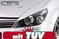 CSR Scheinwerferblenden für Opel Astra H 04- alle Böser Blick Blenden Set ABS