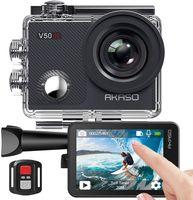 AKASO V50X Action cam Unterwasserkamera 4K WiFi 40M EIS Anti-Shake Action Kamera 4X Zoom mit Touchscreen, Fernbedienung, Sportkamera