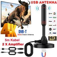 DVB-T2 1080P HD Antenne DVBT DAB Stabantenne 30dbi Leistungsstarke 2 Verstärker
