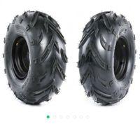 2er Set Komplettrad Felge mit Reifen 3-Loch 16x8-7 schwarz links und rechts