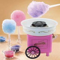 Zuckerwattemaschinen,Haushaltskinder-Zuckerwattemaschine, rosa Kinderwagen, Kindertagsgeschenk