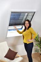 Insektenschutz Dachfenster Plissee 'MASTER', Alurahmen - 80 x 160 cm, Farbe:weiß