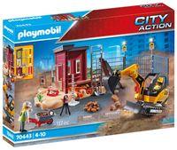 PLAYMOBIL City Action 70443 Minibagger mit Bauteil