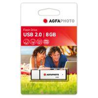 AgfaPhoto USB Flash Drive 2.0 - USB-Flash-Laufwerk - 8 GB - USB 2.0 - Silber