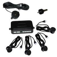 Wolketon Einparkhilfe mit PDC Sensor System Pieper inklusive 4 Sensoren in schwarz fuer hinten