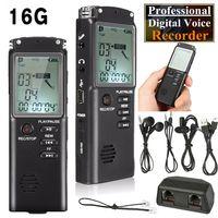 1,6 Zoll 16GB Intelligente Digital Audio Voice Phone Recorder Dictaphone Diktiergeräte MP3 Musik Player USB Flash Drive Voice Aktivieren AB Wiederholen mit Kopfhörer