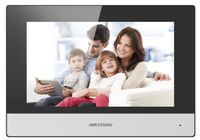 Hikvision Digital Technology DS-KH6320-WTE1, 17,8 cm (7 Zoll), LCD/TFT, 1024 x 600 Pixel, Kapazitiv, Schwarz, Weiß, Schnelles Ethernet
