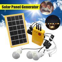 Solargenerator Stromerzeuger mit 3 LED Lamp USB Ladegeräte Camping 6V 3W