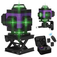 4D 16 Laser Level Linien Gruen 360º Multifunktionale automatische Rotationslaser Multifunktionales Kreuzlinienlaser