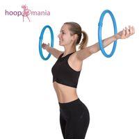 Hoopomania Arm Hoop, Hula Hoop mit Schaumstoff, 2-teilig Hellblau