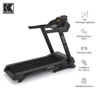 KETTLER® Laufbänder Sprinter 2.0 inkl. Kinomaps App (Bluetooth) | 28 Trainingsprogramme | 4 Nutzerprofile | Geschwindigkeit bis 16 km/h | 2PS Motorleistung | 12% Steigung |Grosse Lauffläche 44 x 130cm