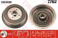 Trw Bremstrommel Hinterachse DB4088