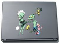 Laptopaufkleber Laptopskin clm012 - Lustige kleine Monster - Sexy Frauen - 150 x 151 mm Aufkleber