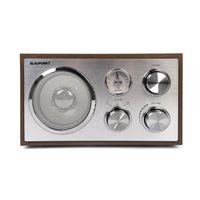 Blaupunkt RXN 180, UKW Küchenradio mit Bluetooth und Aux In, UKW/FM Empfang, Retro Radio mit Teleskopantenne, Analog-Tuner, Holz Gehäuse