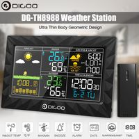 Digoo LCD Wetterstation mit Farb-Display Funk-Außensensor Thermometer Hygrometer