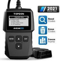 TOPDON AL200 OBD2-Diagnosegerät Kfz-Diagnosegerät für alle Fahrzeuge, Deutsch-Auslesegerät für Benzin Dieselmotor, OBDII EOBD CAN Fehlercodes auslesen & löschen etc