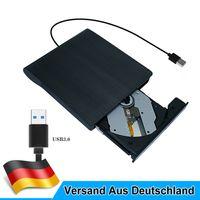 Externes DVD Laufwerk USB 3.0 Brenner Slim DVD-RW CD Brenner für PC Laptop Mac DE