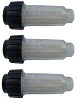 """3 Pack Hochdruckreiniger Wasserfilter inkl. Filtereinsatz (5.731-050.0) für alle Hochdruckreiniger mit 3/4"""" Wasser-Anschluß kompatibel mit 4.730-059.0 für Kärcher K2-K7"""