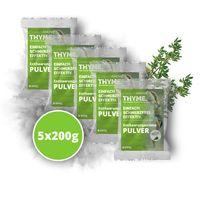 5x200g (1000g) Capillum AMOVE Thyme Enthaarungscreme als Pulver mit natürlichen Kräutern Thymian