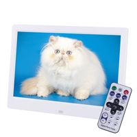 10 Zoll Digital Fotorahmen Bilderrahmen MP4 Videoplayer inkl. Fernbedienung, Farbe: Weiß