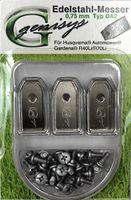 30x Ersatz Messer Klingen kompatibel für Husqvarna Automower ® / Gardena Mähroboter (longlife - 0,75 mm - 3 g) + 30x ELOXIERTE Schrauben NEU