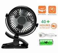 USB Ventilator 360° MiniLüfter Einstellbare Geschwindigkeiten Leise Tischventilator Lüfter Clip Schreibtisch Ventilator
