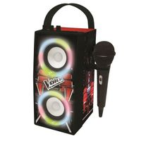 THE VOICE - Trendiger Bluetooth-Lautsprecher - Tragbar mit Mikrofon und Lichteffekten