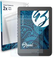 Bruni Basics-Clear 2x Schutzfolie kompatibel mit Tolino Page 2 Folie
