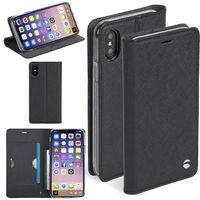 Krusell Malmö Tasche Folio Case für Apple iPhone X / XS 5.8 Tasche Schutz Hülle Schwarz