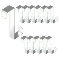 12 Stück Edelstahl Türhaken rostfrei Haken für die Tür Schublade und Schrank Haken Kleiderhaken Türhänger Garderobenhaken Haken