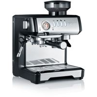 GRAEF ESM 802 Milegra Siebträger-Espressomaschine, Farbe:Schwarz-Silber