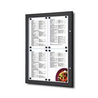 POV® Menükasten Outdoor Schwarz 4x DIN A4