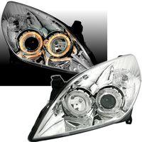 Angel Eyes Scheinwerfer für Opel Vectra C Signum Facelift Set links rechts Halog