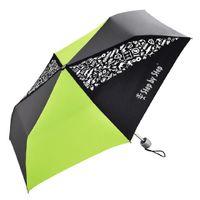 Step by Step Taschenschirm green & grey Magic Rain Effekt Regenschirm mit Hülle