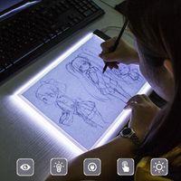 A5 LED Zeichenbretter Animation Kopieren Tafel Stufenlos Dimmen Kopieren Pads Zeichentablett Wasserdichtes leuchtendes Malbrett Sketch Board mit USB Kabel,SoGoods