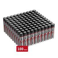 ANSMANN Batterien AAA 100 Stück, Alkaline Micro Batterie, für Lichterkette uvm.