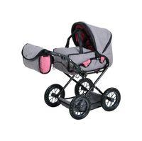 Kombi-Puppenwagen Ruby, jeans grey