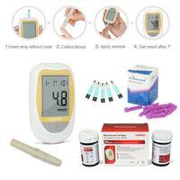Tragbares Blutzuckermessgerät Codefreies Zuckermonitor + Teststreifen + Lanzetten, CONTEC