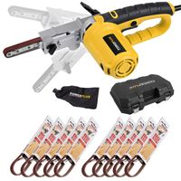 Powerplus Elektrofeile 400 W Schleifer Powerfeile + Koffer + 40 Schleifbänder