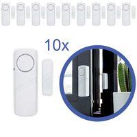 10x Türalarm Fensteralarm Alarmanlage Sirene Alarm Einbruchschutz für Fenster Tür