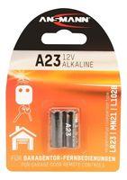 ANSMANN A23 Alkaline Batterie (12V) für u.a. Garagentoröffner 2er Pack