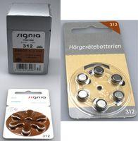 Siemens/ Signia 312er Hörgeräte Batterien 60 Stück +12 Testbatterien von Hörex Basic