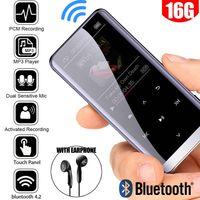 16GB Bluetooth MP3 Player OTG Touch Musikspieler MP4 FM Radio E-Book Recorder Sport/Laufen/Reisen/Camping 8GB Bluetooth MP3 Player