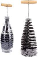 ONVAYA® Flaschenbürste | ideal für SodaStream-Flaschen | Lange und dünne Bürste zur Reinigung von Flaschen | Flaschenreiniger-Bürste | Reinigungsbürste | mit Wollkopf für schonende Reinigung