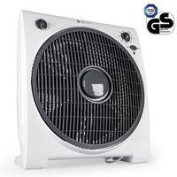 TECVANCE Box Fan Ventilator, Raumventilator, 4 Stufen & Timer, kleiner, leiser & leistungsstarker Zimmerventilator, Windmaschine für jeden Raum, Weiß
