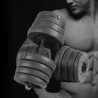 2x 15kg Kurzhanteln Hantel Set Gewichte-Set Guss Gewichtübungen Schwarz 30kg Zuhause